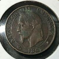 1862 FRANCE 5 CENTIMES NICE COIN