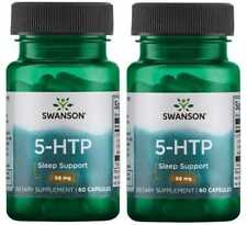 5-HTP 50 mg x 120 Capsules Insomnia Good Nights Sleep - Increase Melatonin