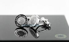 MONTBLANC PRECIOUS COLLECTION PAVED DIAMONDS CUFFLINKS NEW BOX GERMANY 38205 SS