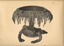 Stampa antica GIAPPONE JAPAN STYLE scultura con rana 1885 Antique print
