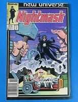 NEW UNIVERSE NIGHTMASK #1 ~ 1986 MARVEL COPPER AGE COMIC BOOK ~