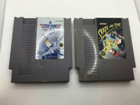 Nintendo NES Cartridge Video Game Authentic Top Gun And Skate Or Die LOT 2 CARTS