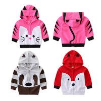 Spring Toddler Kids Baby Girl Boy Hooded Sweatshirt Jacket Animal Coat Outwear