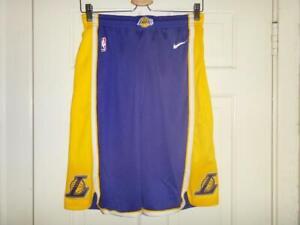 Youth Nike Los Angeles Lakers Purple/Gold Statement Swingman Shorts XL (18/20)