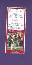 5/5/1995 Philadelphia Phillies @ Atlanta Braves Baseball Ticket Stub