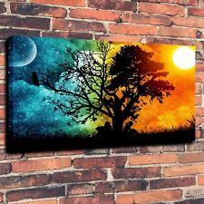 Art Print on Canvas Moon Sun Night Seasons Summer Wall Decorations (Unframed)