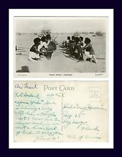 "AFRICA SUDAN WARRIOR REAL PHOTO POSTCARD ""FUZZY WUZZY FIGHTING"" CIRCA 1945"
