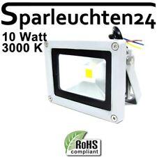 LED Aussen Strahler IP65 Gehäuse silber 10W 3000K