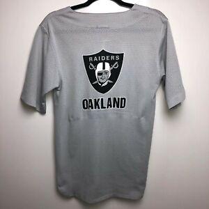 Rawlings Jersey Men's S Gray Oakland Raiders NFL Football Logo