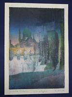 """Monotypie von Wolfgang Korn """"Yenidse Dresden"""" 2001 Malerei Kunst Zeichnung sf"""