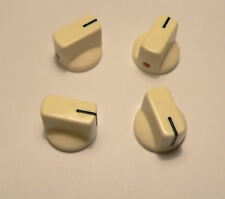 Small cream knobs set of 4 for valve radio, amplifier or guitar pedal knob