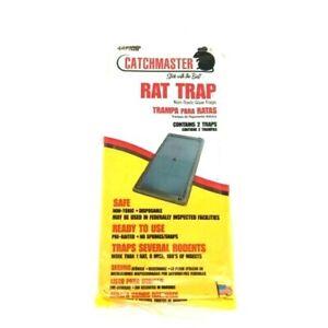 CATCHMASTER RAT TRAP NON -TOXIC GLUE TRAPS ( 2 TRAPES ) MADE IN USA