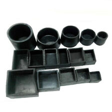 Black Rubber Chair Table Feet Furniture End Cover Caps Square/Round All Sizes