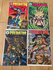 Predator 1 (2nd print) ,2,3,4 complete set 1st app Predator all VF to NM