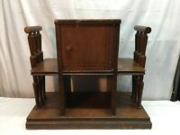 Vtg Art Deco Walnut Magazine Rack End Table Entry Stand Magazine  Smoking Stand
