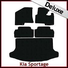 KIA SPORTAGE mk3 2010-2015 su misura 1300g di Lusso Tappeto Auto e le stuoie di avvio Nero