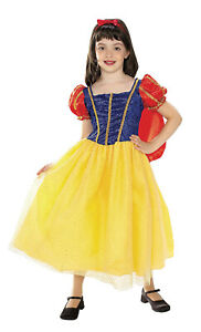 Toddler Snow White Costume Fairy Tale Dress Up Halloween Size 2T-4T