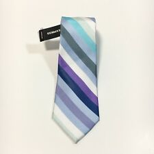 "Express Men's Slim Skinny Narrow 100% Silk Multi Color Striped Neck Tie 2.5"" NWT"