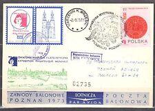 Poland 1973 - Balloon Post card - Balloon Katowice