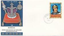 (86067) Barbuda Philart FDC Kings & Queens Richard I 1 May 1970