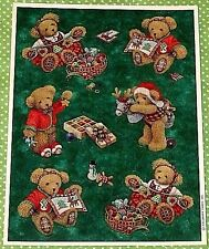 VINTAGE HALLMARK CHRISTMAS TEDDY BEARS~SEWING CRAFTS~TOYS~STICKERS SHEET~NEW