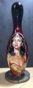 Wonder Woman Linda carter custom airbrush bowling pin comic art DC