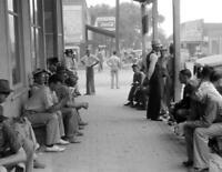 "1941 Men on Main St, Childersburg, Alabama Old Photo 8.5"" x 11"" Reprint"