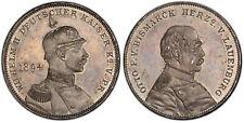GERMAN ST. Prussia. Otto von Bismarck & Wilhelm II 1894 AR Medal. PCGS SP63.