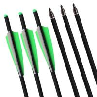 20'' Archery Carbon Crossbow Arrow Hunting Crossbow with Replacement Field Tips