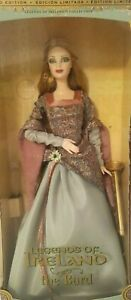 Limited Edition Legends Of Ireland The Bard Barbie Collectibles NRFB