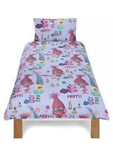 DreamWorks Trolls Party. Reversible Single Duvet Cover Bedding Set