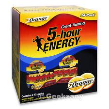 5-Hour Energy Dietary Supplement Orange, 24 Packs, 24-1.93 fl oz