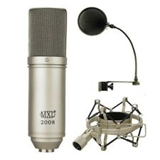 MXL 2008 Condenser Vocal / instrument Recording Microphone +Shockmount + MXL POP