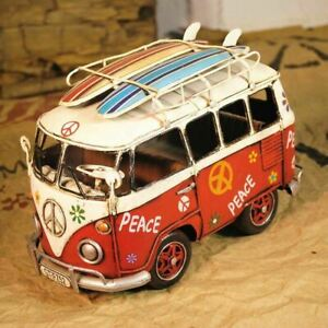 VW Decorative with Surfboard Prefect Gift for Surfer Home/Mancave/Cabin Figure