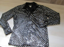 Men's SERIOUS Brand Clothing with Mirrored Sequin/Palettes Button Front Shirt -L