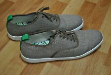 Euc Steve Madden Fauster Beige Canvas Sneakers Men's Tennis Shoes size 11.5
