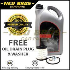 5 L 5W-30 completamente sintetico 5W30 Filtro Olio Del Motore & Kit, MINI 1.6 Benzina 2nd Gen