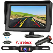 Wireless Car Backup Camera Rear View Hd Parking System Night Vision+ 4.3 Monitor