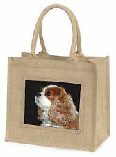 Blenheim King Charles Spaniel Large Natural Jute Shopping Bag Christ, AD-SKC1BLN