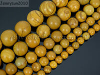 Natural Wood Grain Jasper Gemstone Round Beads 16'' 4mm 6mm 8mm 10mm 12mm 14mm