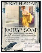1925 FAIRY SOAP Woman Preparing To Bathe art Vtg Print Ad