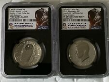 2019-S Apollo Anniversary 2 PCS. Coin Set NGC Graded PF 69 ER UC Sold Out! OBO