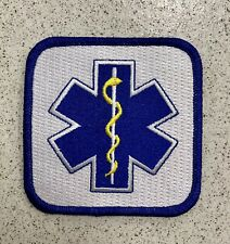 PARAMEDICS PATCH Star of Life Ambulance EMT/EMS  100%EMBROIDERED .