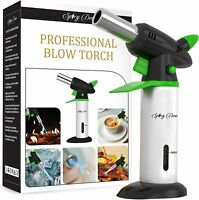 Blow Torch - Creme Brulee Refillable Professional Culinary Kitchen With Safety.