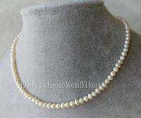 schönes kultivierte mini mm weiße Süßwasser Perlenkette 16 zoll