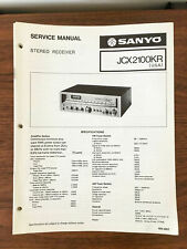 Sanyo JCX 2100KR Receiver Service Manual *Original*