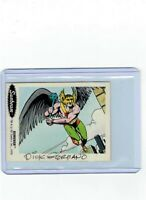 Sunbeam Bread DC Super Heroes Sticker Card #26 Dick Giordano Signed Hawkman