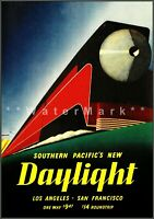 Southern Pacific's New Daylight 1937 Vintage Poster Print Retro Railroad Art