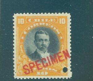 Chile 1911, 10p Echaurren, American Bank Note Co. 23.5mm SPECIMEN ovpt. NH #112