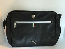 Ferrari Puma LS Reporter leather bag black 16 inches x 12 inches